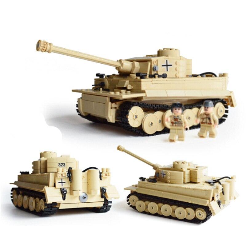 цена на New legocean Military German King Tiger Tank fit legoings Military city technic figures Building Blocks bricks Toys gift kid