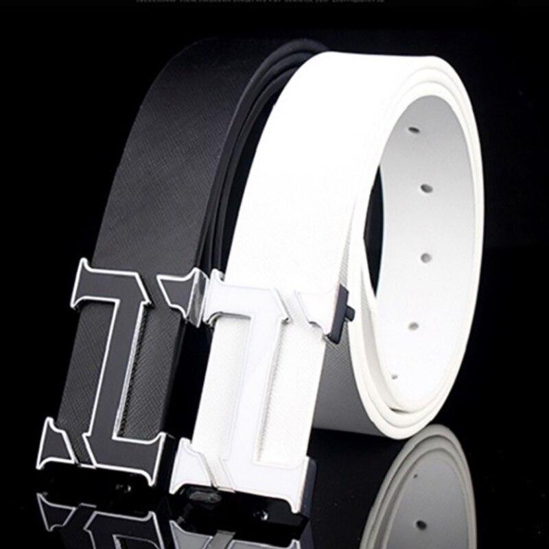 לבן H מעצב חגורות חגורה יוקרה עבור Mens - אבזרי ביגוד