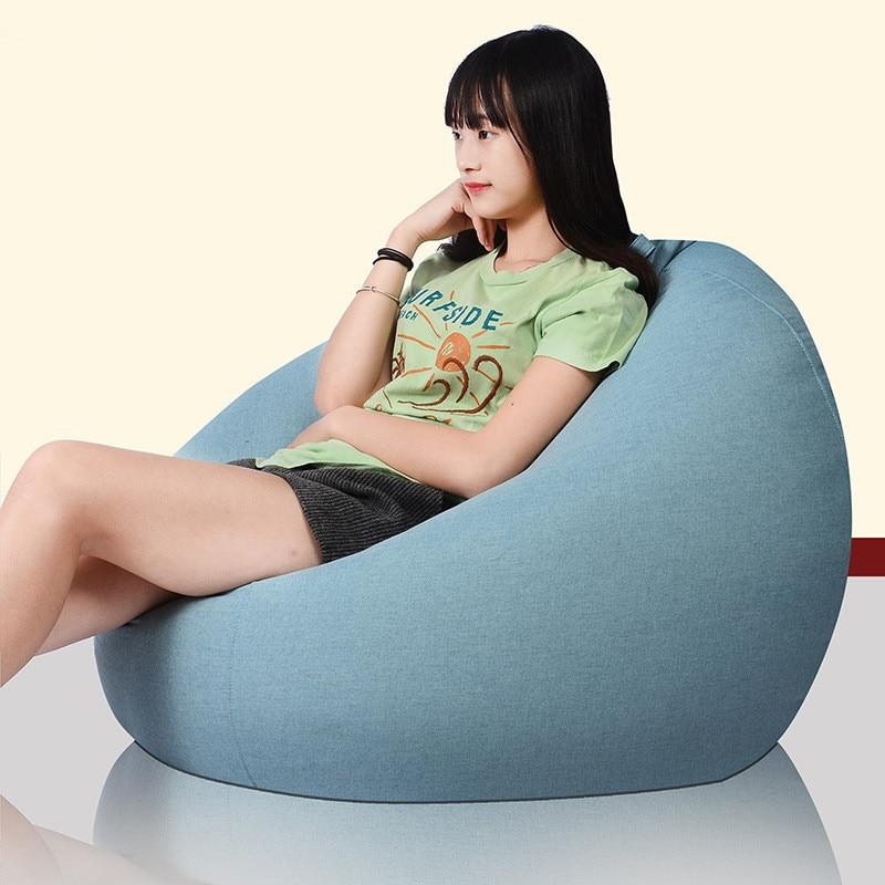 Modern Fabric Single Sofa Cover Tatami Lazy Bean Bag Sofa Chair Creative Balcony Living Room Bedroom Comfortable Relaxing цена 2017