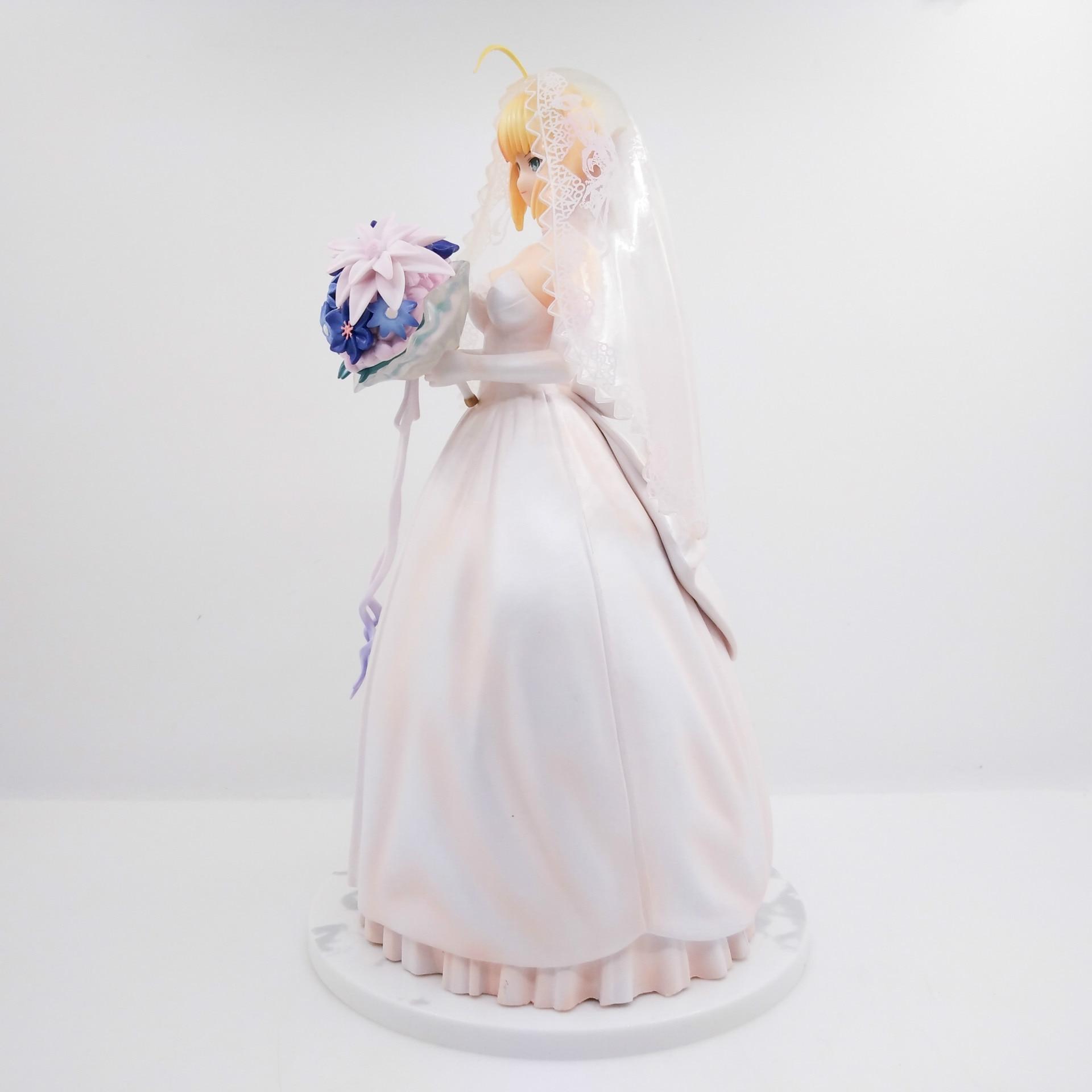 Destin/séjour sabre de nuit lily robe royale robe de mariée blanche 10th anniversaire figurine d'action PVC 25 cm collection sabre poupée de mariage - 3