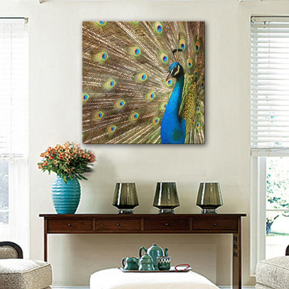 Hd Oil Painting Peacock Decoration Painting Home Decor On Canvas Modern Wall Art Canvas Prints Poster