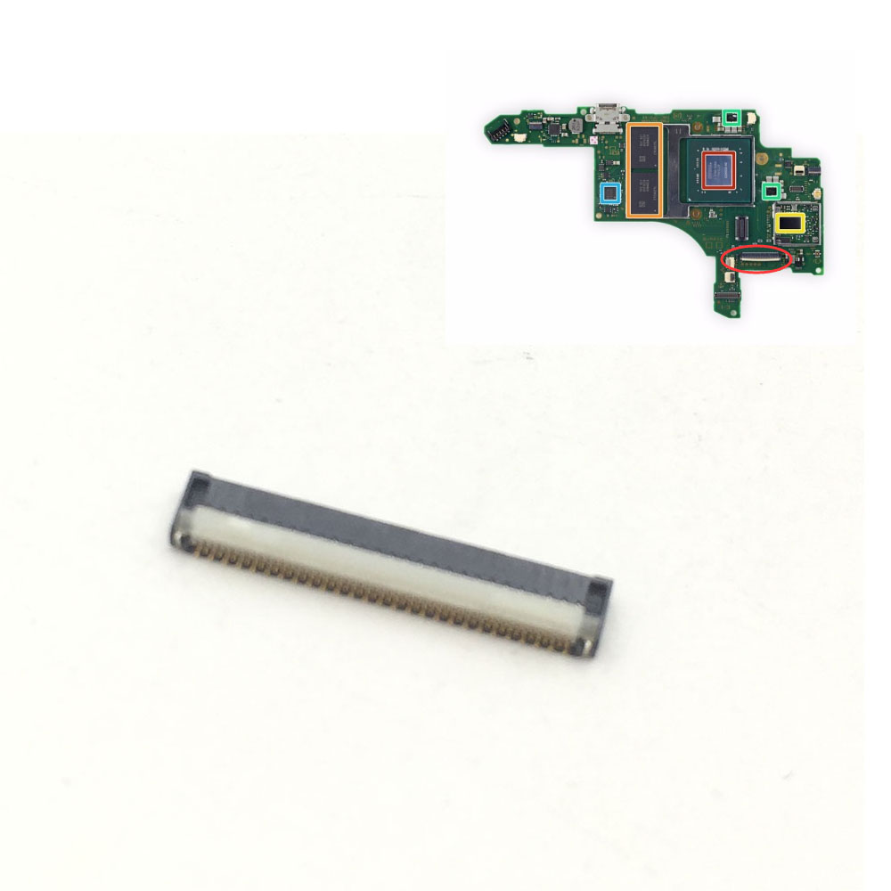 Replacement For NS SWITCH Console Mother Board To Lcd Display Screen Flex Cable Clip Ribbon Connector Socket