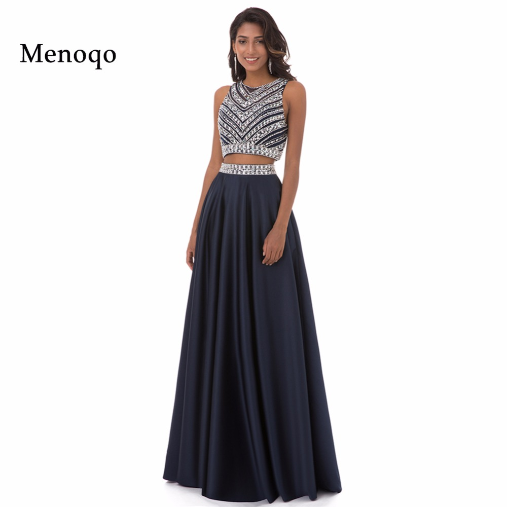 Menoqo 2 Piece Evening Dress Long Women Pageant Gown Real Pictures ...