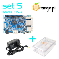Orange Pi PC2 SET5 :  Orange Pi PC2+ Transparent  ABS Case+ Power Supply