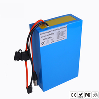 Original 48V 20AH Lithium ion Electric Scooter Bike Battery for 750W 1000W Ebike Bicycle Motor With 30A BMS Multi Charger Ports