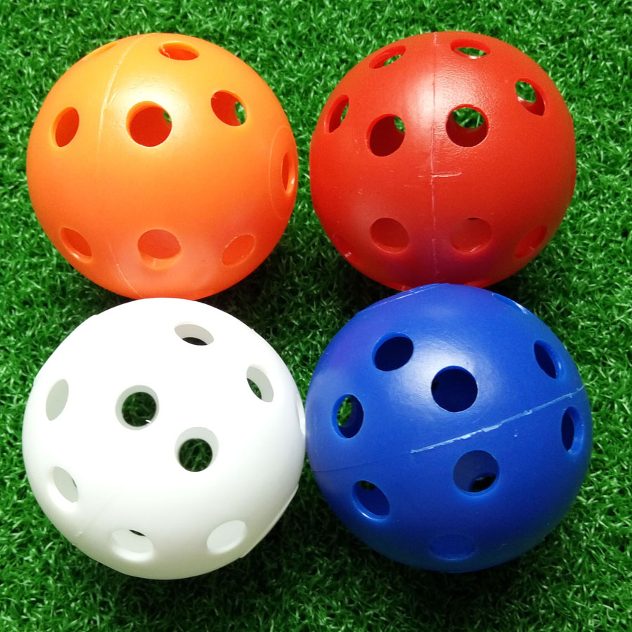 50Pcs Plastic Airflow Hollow Golf Ball Practice Indoor Golf Practice Training Aid Sports Accessories
