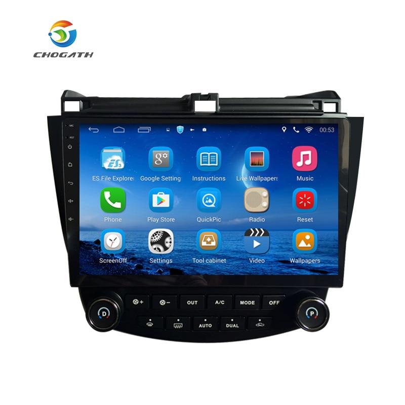 ChoGath TM Android 6 1 Quad core 10 1 Car radio GPS Navigation for HONDA Accord