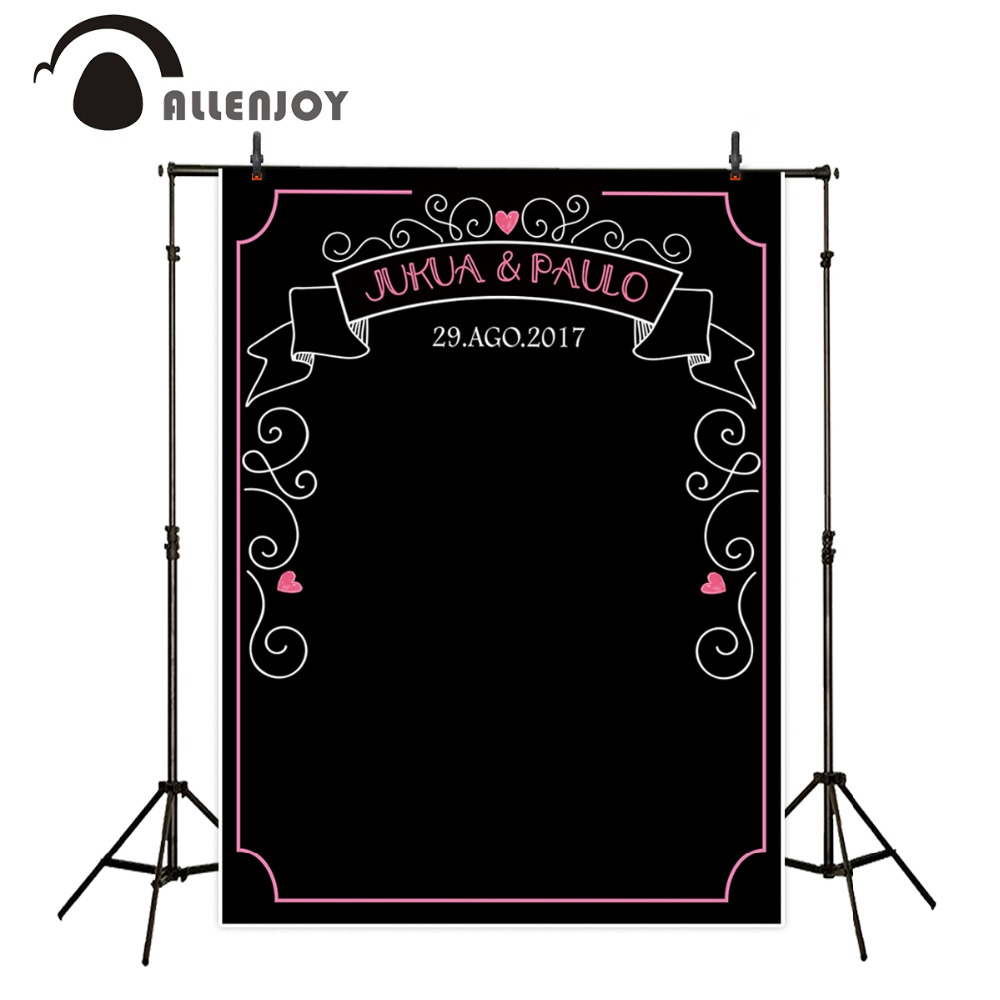 Allenjoy backdrops black bottom customized wedding pink background photography backdrop for photo studio send rolled allenjoy photography backdrops love pink romantic background photography wedding backdrop for valentine s day