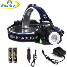 3000Lm Waterproof CREE XML T6 Zoom LED Headlight Head Lamp Light Zoomable Adjust Focus flashlight For Bicycle Camping Hiking kit