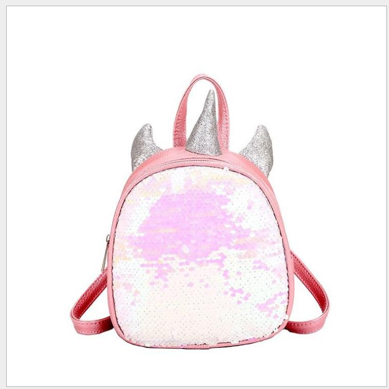 Mini Sequins Unicorn Backpack PU Leather Women Travel Small Bags Teenager Student Children School Bags Girls Book Bag SatchelMini Sequins Unicorn Backpack PU Leather Women Travel Small Bags Teenager Student Children School Bags Girls Book Bag Satchel