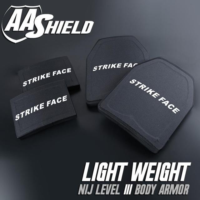 AA Escudo À Prova de Bala Placa Ultra-Leve Difícil Body Armor Segurança Inserções NIJ Nível III 3 10x12 #2 6x8 Kit