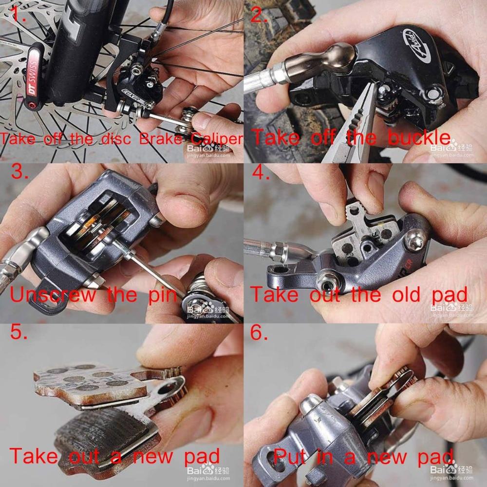 4 Pairs Bicycle Metall Disc Brake Pads For Shimano M375 M395 M416 M445 M446 M485