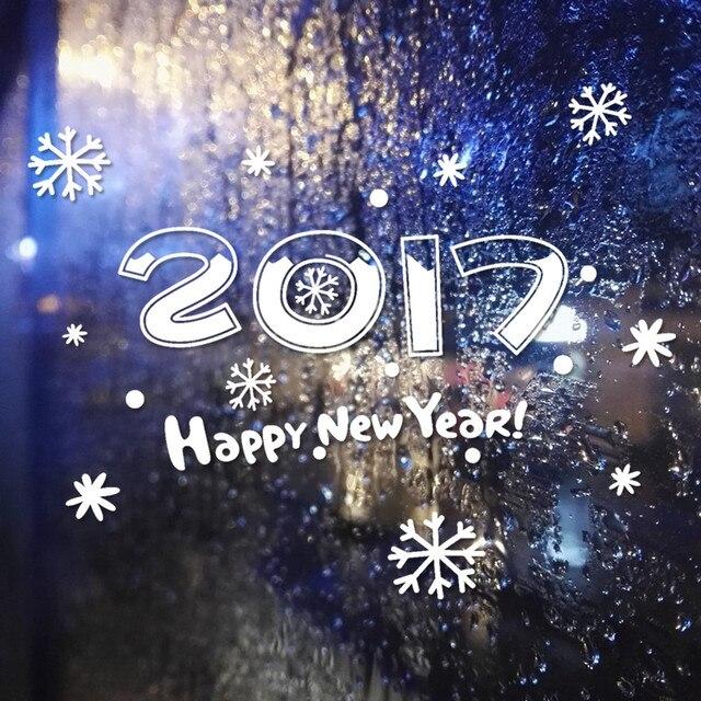 Новый Год 2017 С Рождеством Христовым Декор Дома Стикера Стены Витрины наклейки Наклейки u61003