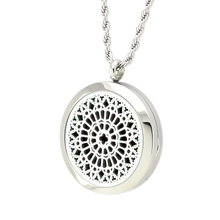 2pcs (30mm) Aromatherapy/Essential Oil Diffuser locket pendant surgical Stainless Steel Perfume Locket Pendant