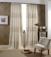 Plum Flower Coffee Purple Orange Floral Embroidered Exquisite White Curtains Cortinas For Living Room Bedroom Curtain Modern