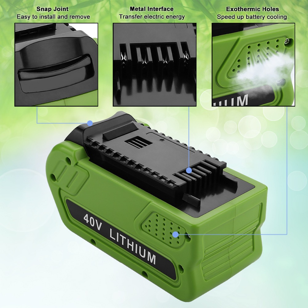 Best 40V 4500mAh Rechargeable Replacement Battery for Creabest 40V 200W GreenWorks 29462 29472 22272 G-MAX GMAX L10Best 40V 4500mAh Rechargeable Replacement Battery for Creabest 40V 200W GreenWorks 29462 29472 22272 G-MAX GMAX L10