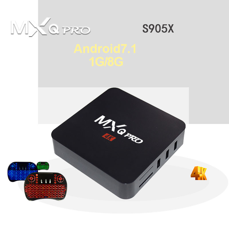 MXQ PRO Android 7.1 Amlogic S905X Quad Core 1g RAM 8g ROM iptv KD 4 k 2.4g wiFi Smart Tv Box Media Player Set top Box PK x96 mini
