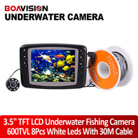 Underwater Fishing Camera System 8 IR LEDs 30M Underwater Fish Camera With Portable 3 5 TFT