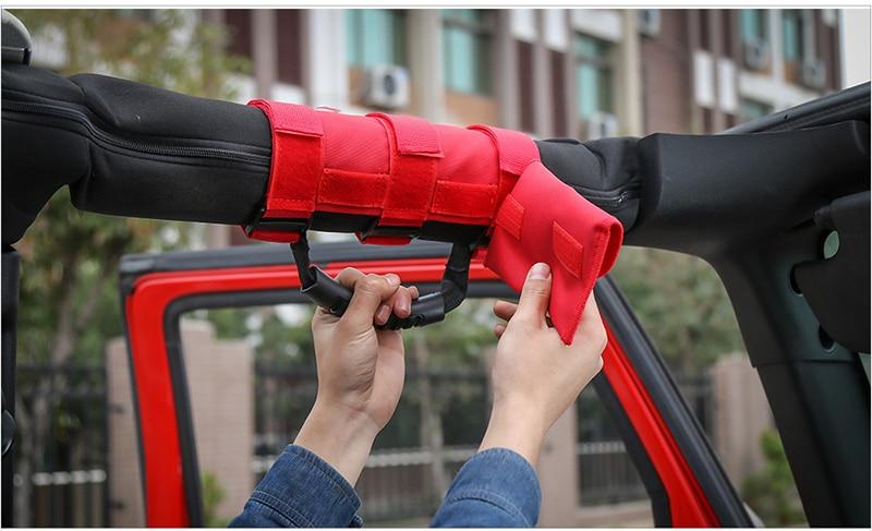 Sunglasses Bag Grab Handle For Jeep Wrangler CJ TJ JK JL Oxford Cloth 2019 Nice~