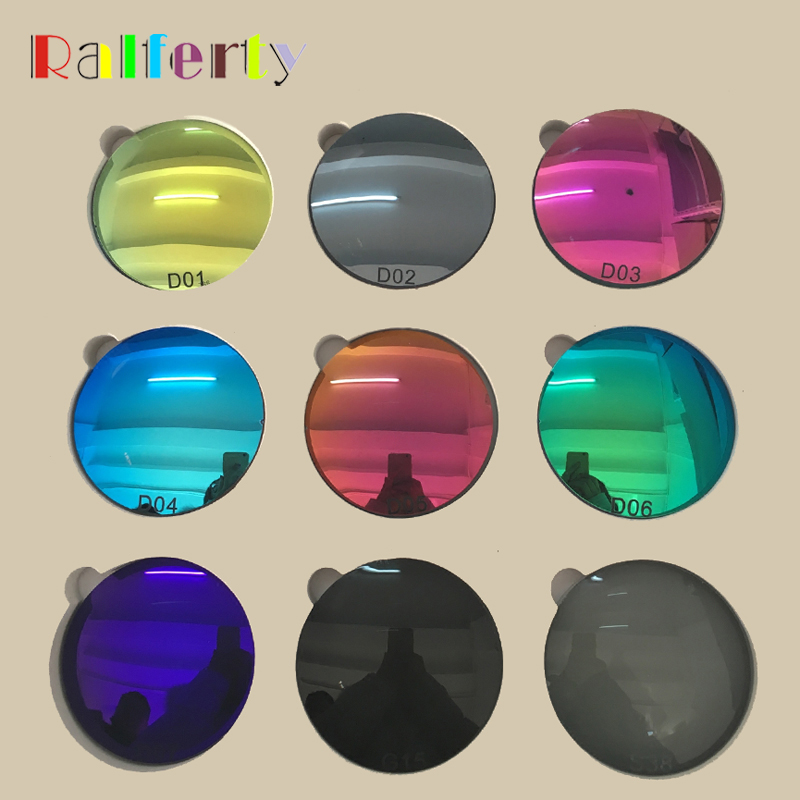 1 61 Prescription Polarized Lenses Mirrored Colorful Lens Myopia Hyperopia Optical Sunglasses Lens Anti UV Driving
