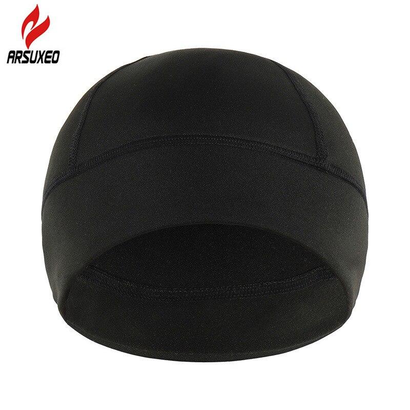 Unisex Winter Windproof Cycling Cap With Thermal Fleece Warm Elastic Ski Skiing Running Cap Head Outdoor Sport Hat For Men Women
