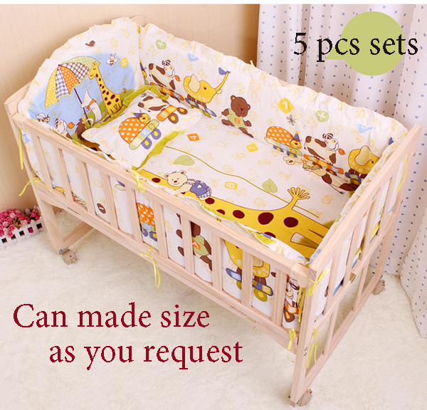 5 Pcs Baby Bedding Set Crib Suits100 Cotton Per Winter Bedclothes Include Pillow Pers