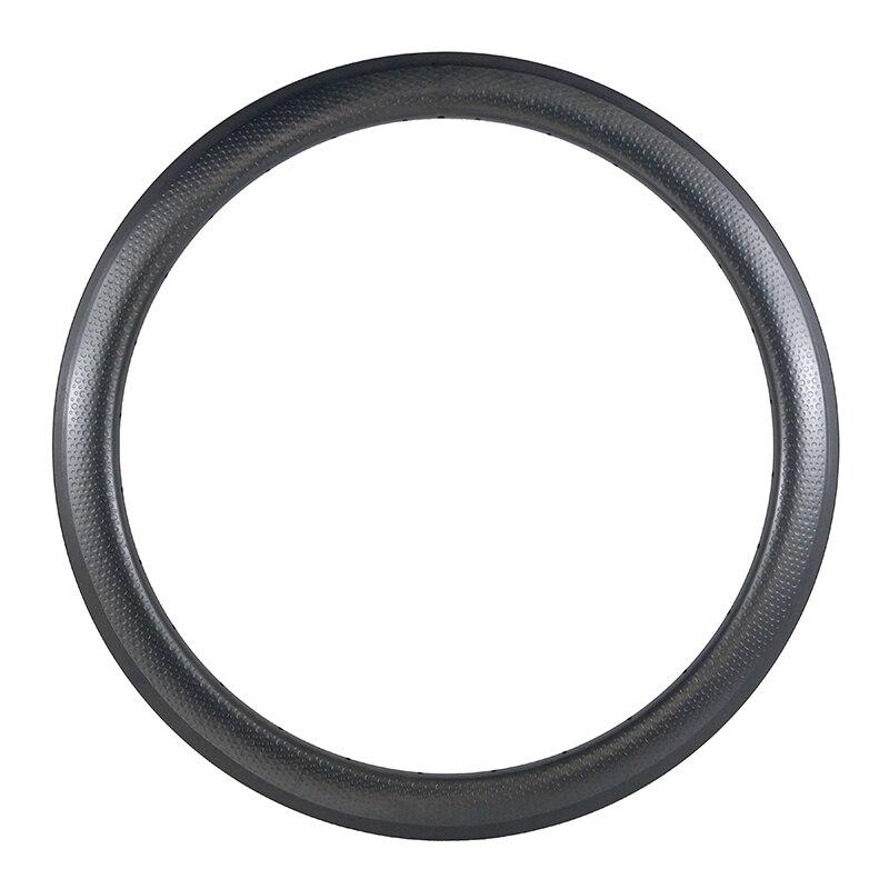 50mm Clincher Carbon Fiber Dimple Rim 26mm Width U Shape Basalt Brake Track 50c 16 18 20 21 22 24 28 32 Holes For Dimpled Wheels