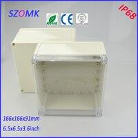 Transparent Cover Junction Box 4 Pcs 166 166 91mm Abs Control Plastic Enclosures For Electronics Enclosure