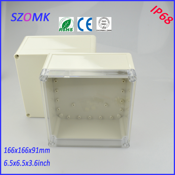 transparent cover junction box (4 pcs)166*166*91mm abs control plastic enclosures for electronics enclosure plastic waterproof