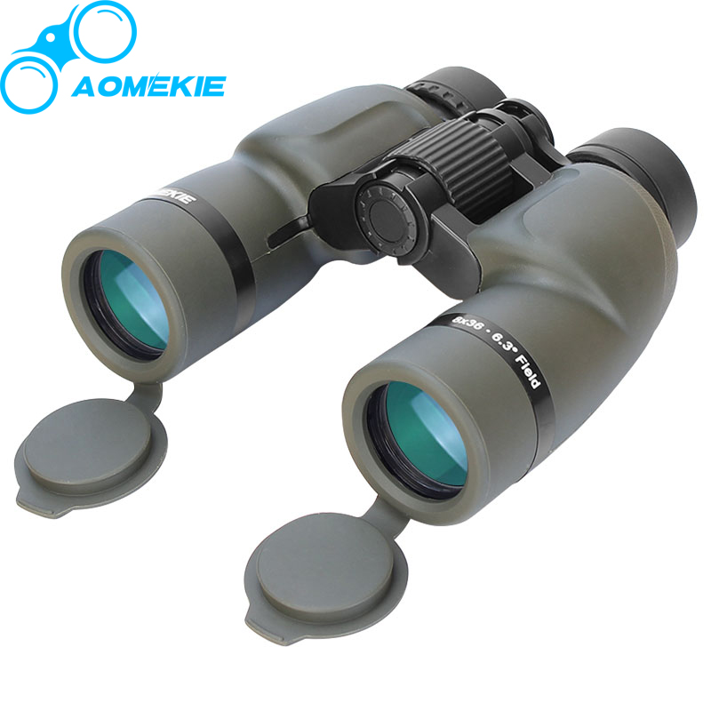 AOMEKIE 8X36 Wide Field Military Binoculars HD Professional Outdoor Hunting Telescope Multi-coated Lens Bak4 Prism Free Shipping