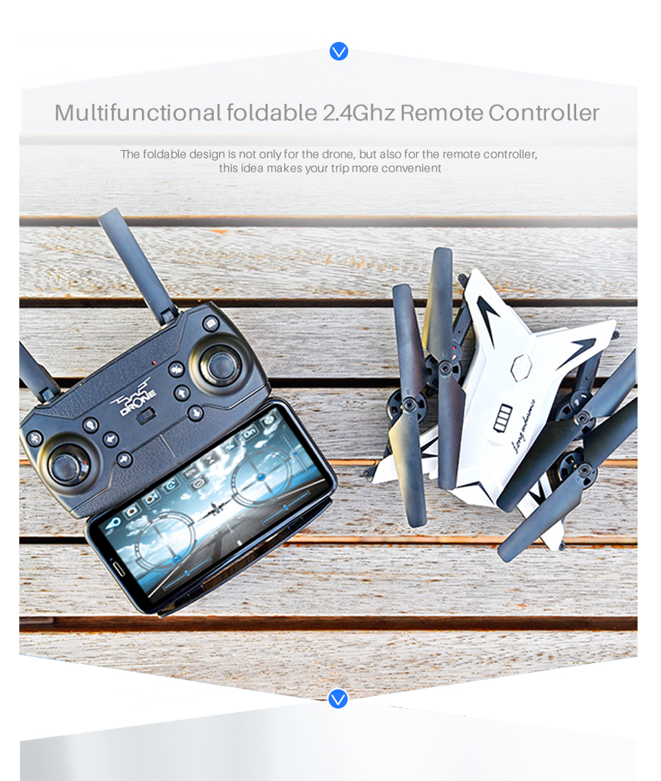 T-Rex RC Helicopter Drone with Camera HD 1080P WIFI FPV RC Drone Professional Foldable Quadrocopter Long Battery Life 4