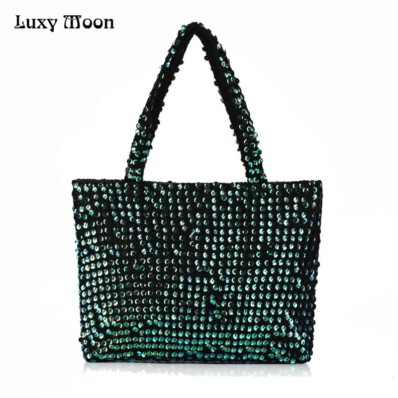 LUXY MOON Women Bags Bling Glitter Portable Shoulder Bags Sequins Famale Fashion Casual Totes Larger Capacity Bolso ZD725 moon flac jeans