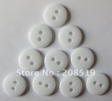 NB089 Resin buttons 500pcs white color 11mm fashion round garment 2 holes sewing jewelry button