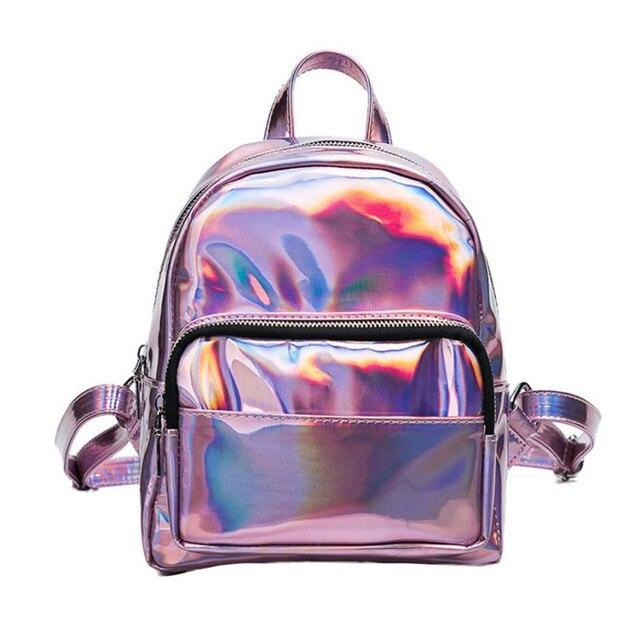61d7e17314517 Retro Sırt Çantası Kadınlar gümüş holografik sırt çantası lazer geri paketi Kadın  hologram sırt çantası Bagpack
