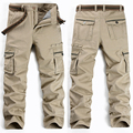 Los hombres de Moda casual de los hombres monos de bolsillo pantalones niño pantalones tamaño más de campo de los hombres militares de la alta calidad 28-38