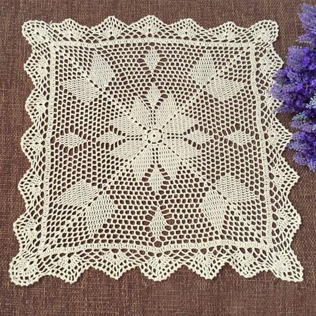 Yazi Handgemachte Baumwolle Hohl Floral Tischdecke Quadrat ...