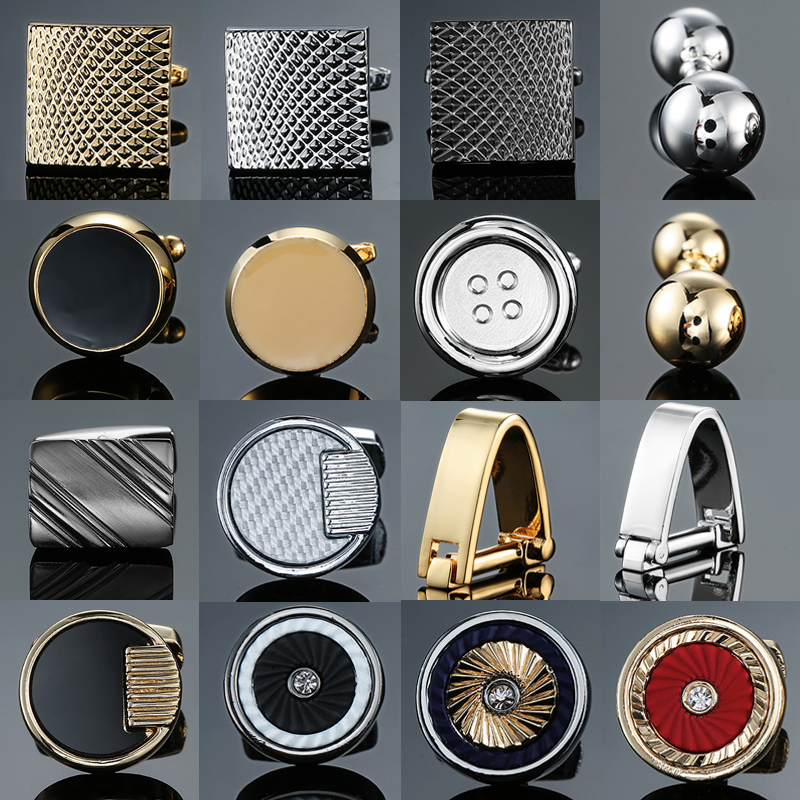 High-end Novelty Cuff Links Stainless Steel Old Craftsman Hand Laser Engraving Cufflinks Mans French Suit Accessories Jewellery
