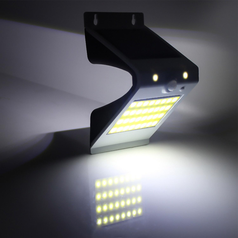 Solar Powered 38 LED Security Wall Light Spotlight PIR Sensor for Outdoor Garden