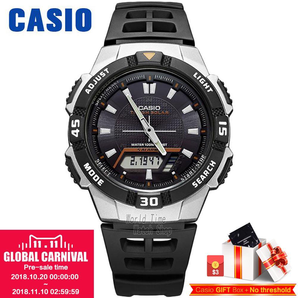 Casio watch Solar outdoor sports casual men's watches AQ-S800W-1E AQ-S800W-1B2 AQ-S800W-1B casio aq 230a 7d