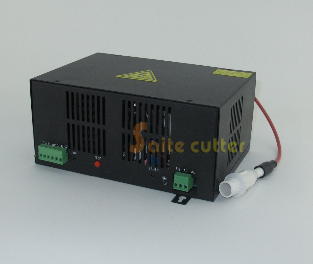 60W 50W 40W Water Cooled Tube Power Supply CO2 Laser Engraving Cutting Machine