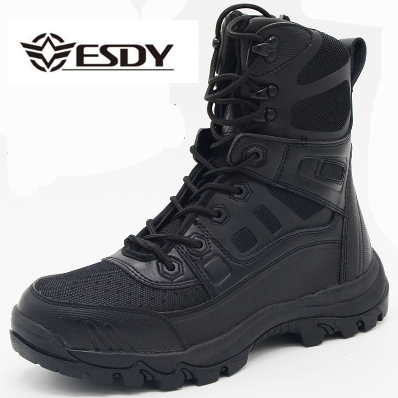 winter men military tactical boots genuine leather rubber