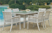 Patio Dining Set Furniture In Rattan Material Outdoor Dining Sets