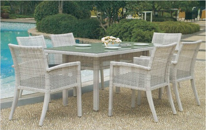 Patio dining set furniture in rattan material,outdoor garden dining sets