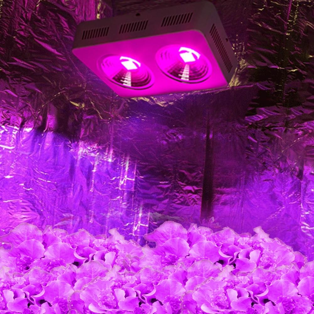 2pcs 400w polni spekter led luči rast luči plošča odsevniki luči COB za rastlinjak rastlin rastlin v zaprtih rastlinah rastlinske svetilke
