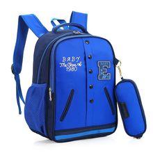 2 Unids/set moda bolsa de la escuela los estudiantes de dibujos animados + cajas de Lápiz niño mochila de Viaje chica kids anime cool 6-12 años regalo del niño