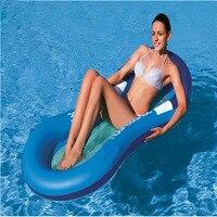 Yaz açık yüzme yetişkin su yüzen yatak recliner su üzerinde yüzen şişme su yastık yatak kanepe yatak