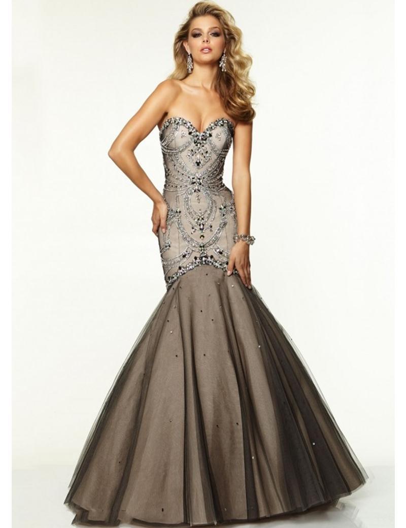 Evening Dresses Brown - Plus Size Tops