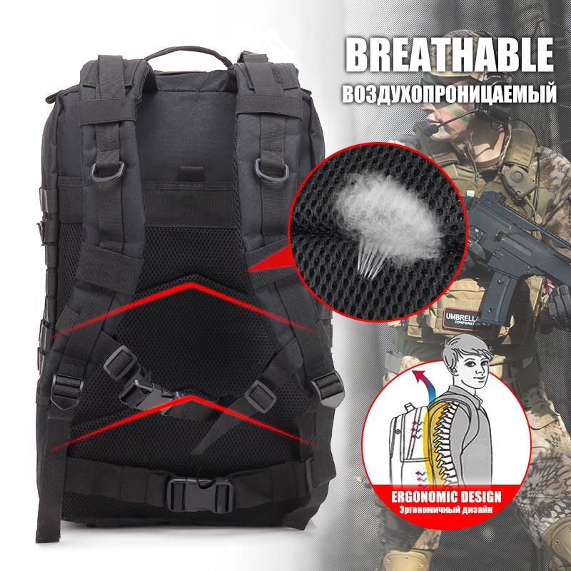 50L sac à dos tactique 3P Softback extérieur sac à dos étanche militaire randonnée sacs à dos hommes chasse voyage Camping sac à dos sacs - 4