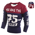 Fashion pullover brand polo men sweater winter dress thick Letter Pullover O-neck Casual Patchwork Knitwear Men Asian sizeH9007