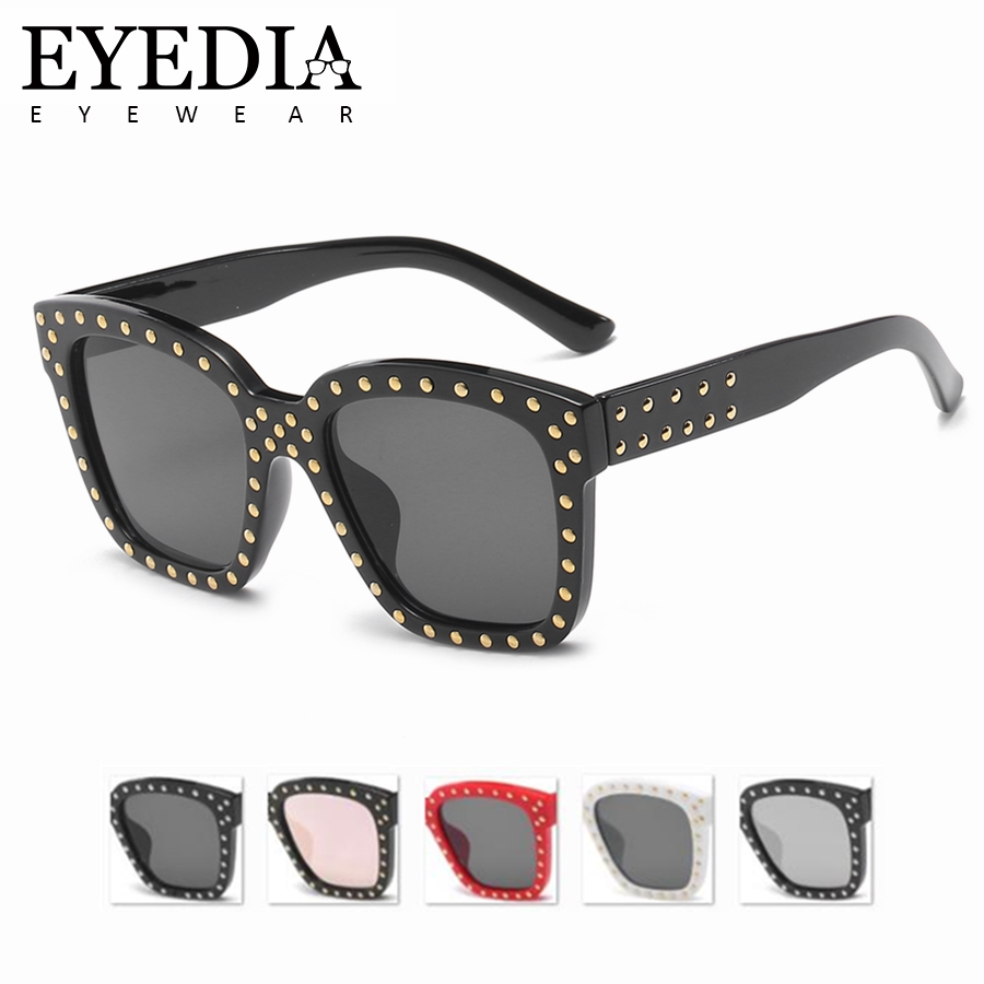 8d4dfe6c89 Hot Sexy Rimless Oversized Sunglasses Women Vintage Red Pink Luxury Brand Sun  Glasses For Female Rivet Big Frame Shades 58018CJ